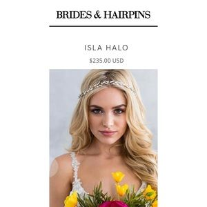 Brides & Hairpins Rose Gold Isla Halo